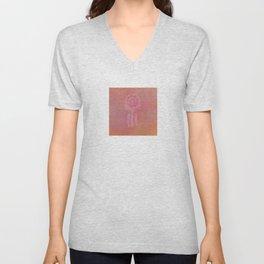 Rose Dreamcatcher On Terracotta  Unisex V-Neck