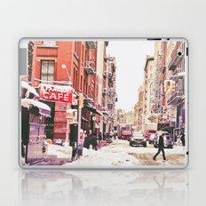 New York City Snow in Soho Laptop & iPad Skin