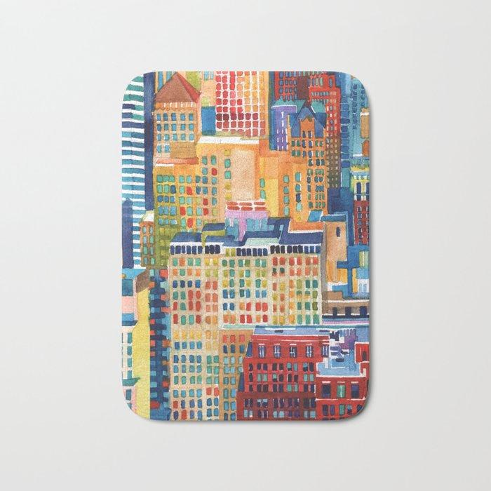 New York buildings Bath Mat