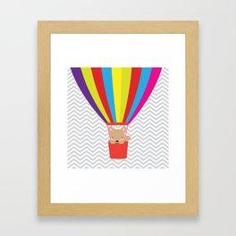 hot air balloon , Framed Art Print
