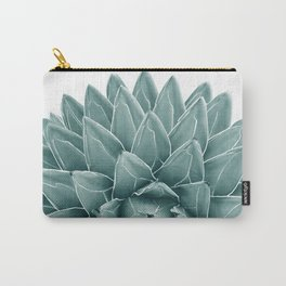 Green Agave Chic #1 #succulent #decor #art #society6 Carry-All Pouch