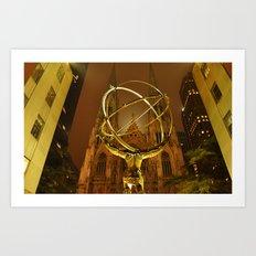Gold Atlas Art Print