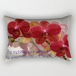 The Religious Mind, Explosion of Love - Quote Rectangular Pillow