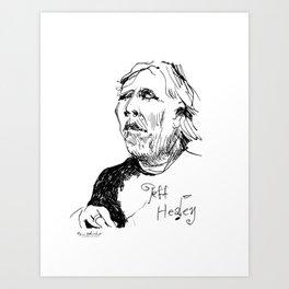 Jeff Healey (musician) Art Print