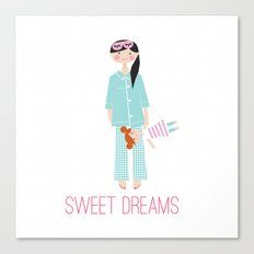 SWEET DREAMS DOLL Canvas Print
