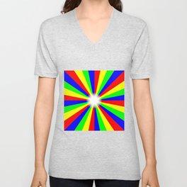 Mulri Colour Bright Ray Background Unisex V-Neck