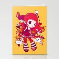 kawaii Stationery Cards featuring Kawaii by Pamela Barbieri