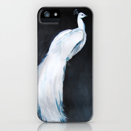 White Peacock II iPhone Case