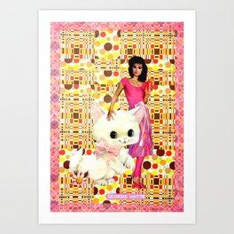 Familiar handcut collage Art Print