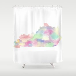 Watercolor State Map - Kentucky KY colorful Shower Curtain