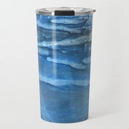 Blue abstract watercolor Travel Mug