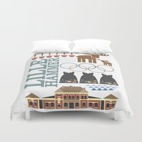 norway Duvet Covers featuring Lillehammer Norway by MTFG