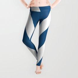 Blue V Abstract Retro Design Leggings