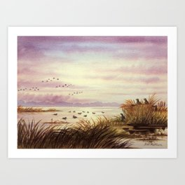 Duck Hunting Companions Art Print