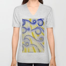 Happy to be Curly Unisex V-Neck