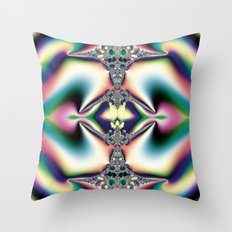 Rainbow Diamond Throw Pillow