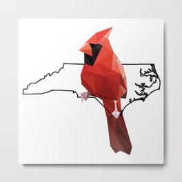 North Carolina – Northern Cardinal Metal Print