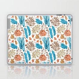 Coral Reef Watercolor Pattern- Teal Laptop & iPad Skin
