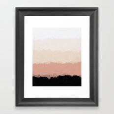 Abstract Rose Color Flora Blush Framed Art Print