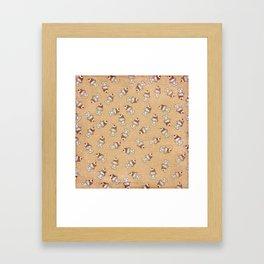 Cherry Sundaes Tan Framed Art Print