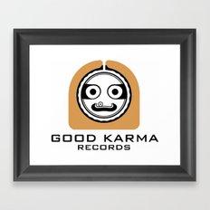 Good Karma Records Logo Framed Art Print