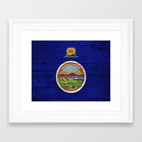kansas Framed Art Prints featuring Kansas by C Liza B