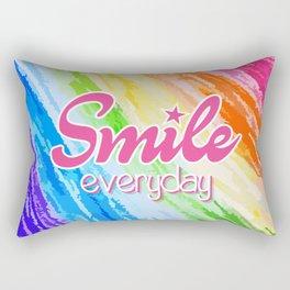 Smile Everyday, Crayon Colors, Kids Crayon, color splash, Rectangular Pillow