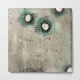 Sepia Circles Metal Print