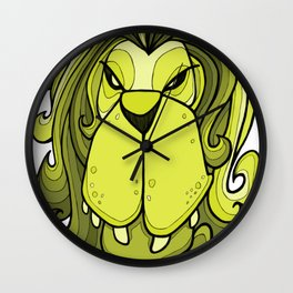 Lion - Lime Punch Wall Clock