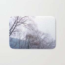 Snow in the Bryant Park Sky, NYC Bath Mat