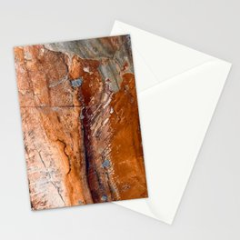 Butter Pecan Praline Marble Agate Faux Design Stationery Cards