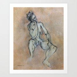 Sexy, Strong, Sleepy (oil on canvas) Art Print