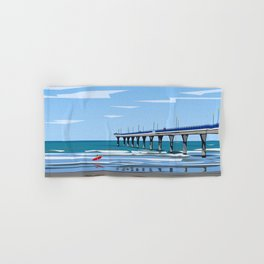 New Brighton Pier, Christchurch, NZ Hand & Bath Towel