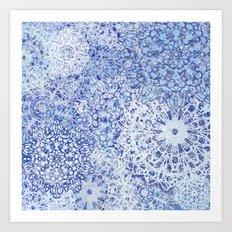 BLue Blizzard Mandalas Art Print