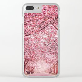 Cherry Blossom in Greenwich Park Clear iPhone Case