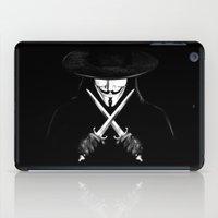 vendetta iPad Cases featuring V for Vendetta (e7) by Ezgi Kaya