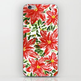 Pretty Poinsettias iPhone Skin