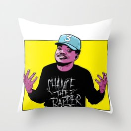 The Rapper Throw Pillow
