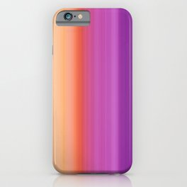 Abstract mixed stripes Gradient Warm iPhone Case