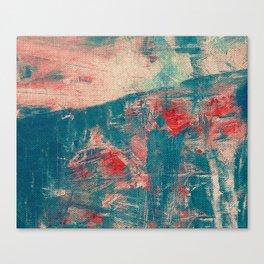 Camminare al Tramonto Canvas Print