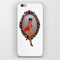 pin up iPhone & iPod Skins featuring Pin Up by Lydia Dick