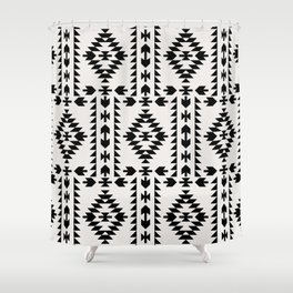 GEO PANEL WHITE Shower Curtain