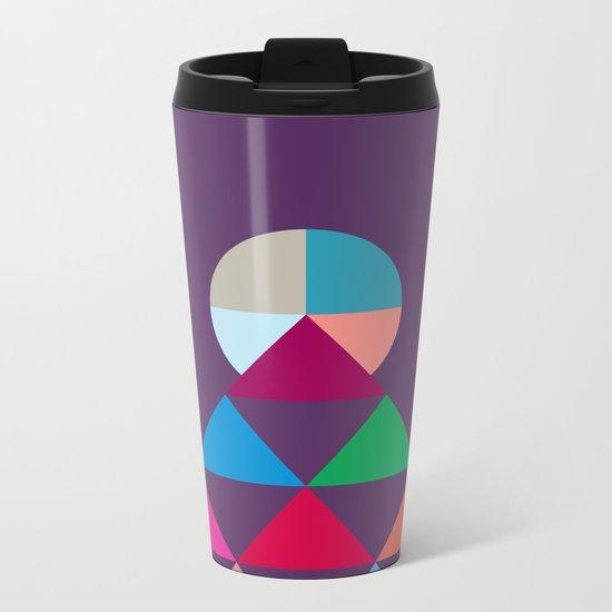 Pyramid Metal Travel Mug