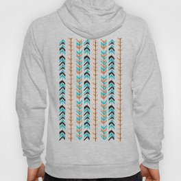Tribal Hipster Aztec Aqua Blue Feather Arrows Hoody