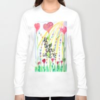 love quotes Long Sleeve T-shirts featuring Love Quotes by Just Creative Julia
