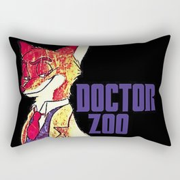 "Doctor Zoo: ""Zootopia""/""Doctor Who"" Crossover Rectangular Pillow"