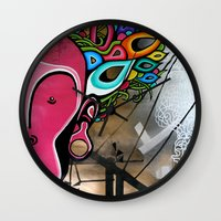 creativity Wall Clocks featuring Creativity by Connor Beale