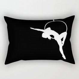 Lyra Aerialist Silhouette Rectangular Pillow