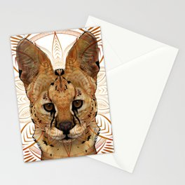 Serval Mandala Stationery Cards