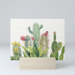 Cactus Watercolor Mini Art Print